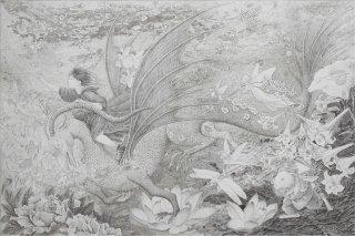 長野 順子 銅版画「果て無き世界へ」*シート