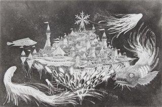 長野 順子 銅版画「夜行遊園地」*シート