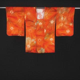 道行コート 部分絞り 相良刺繍 裄丈65cm