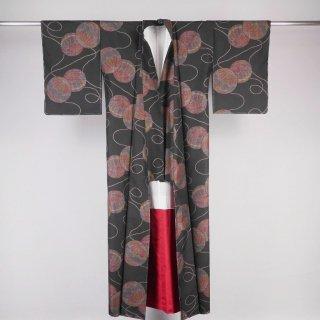 大島紬 カタス式9マルキ 裄丈64.5�