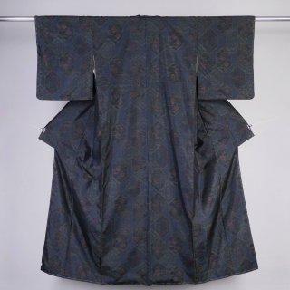 大島紬 ヨコソ 藍染 裄丈63cm
