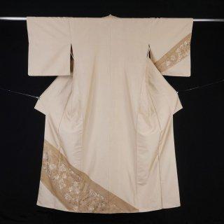 付下げ訪問着 裄丈68cm 麻と絹の交織