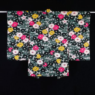 アンティーク羽織 光琳椿 裄丈62cm