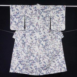 単衣 アンティーク 裄丈62.5� 絣織り