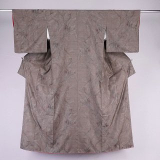 大島紬 未着用品 泥染め カタス式9マルキ 裄丈68.5cm やまと謹製