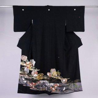 黒留袖 新古品 裄丈65�
