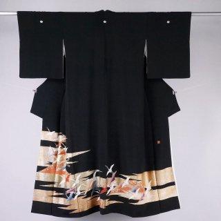 黒留袖 飛鶴 裄丈64�