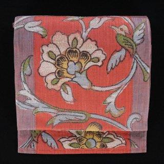 袋帯 紬 法相華 六通柄
