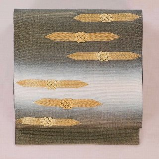 袋帯 金糸織りの飾り付き 美品