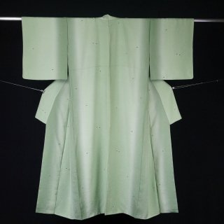 小紋 白い小花 新古品 裄丈66cm