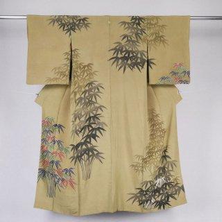 アンティーク着物 笹竹 裄丈62�