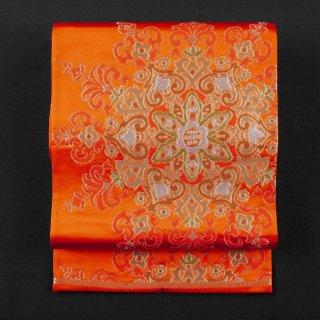 袋帯 繻子帯 華文 新古品