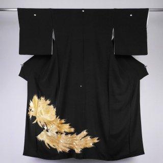 黒留袖 鳳凰 金糸刺繍 裄丈67�