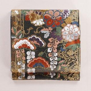 袋帯 紗綾形の地紋 松に藤など 未着用品 美品