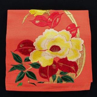 アンティーク帯 名古屋帯 黄色い花