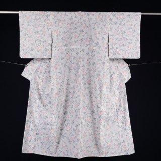 単衣 ポリエステル 小紋 裄丈63.5�