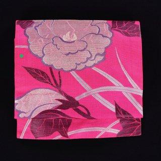 夏帯 アンティーク帯 名古屋仕立 大輪の花