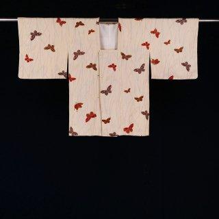 道行コート 蝶 裄丈64�