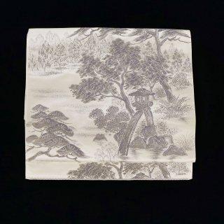袋帯 【兼六園】 プラチナ箔 美品