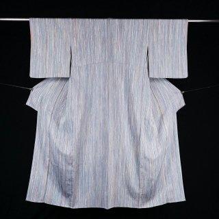 単衣 タテ縞 裄丈65�