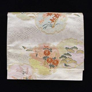 袋帯 【螺鈿雪輪吉祥文】 「三松」謹製