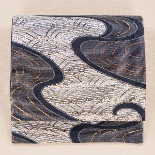 夏帯 袋帯 青海波に波 六通柄