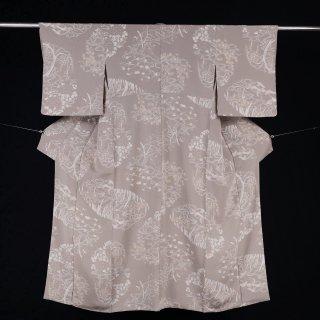 小紋 チリメン 裄丈62.5�