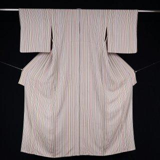 単衣 タテ縞 裄丈65.5�