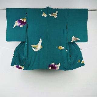 アンティーク羽織 鳥 裄丈63�