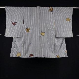 アンティーク羽織 タテ縞 モミジ 裄丈62�