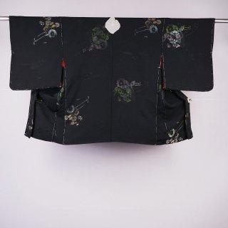 黒絵羽織 花車 裄丈64.5�