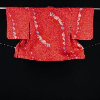 アンティーク羽織 銘仙 裄丈65�