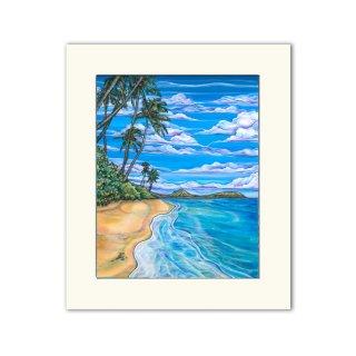 Kahala Beach(マットプリント)11×14/0617T20308-032