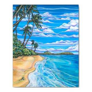 Kahala Beach(ジグレー/キャンバス)