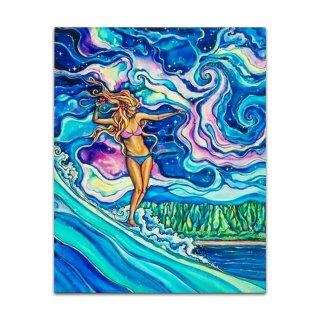 Cosmic Surf(ジグレー/キャンバス)