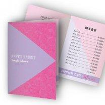 二つ折りリーフレット【うずまき】ピンク