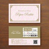 ショップカード【クラシックフレーム】ピンク