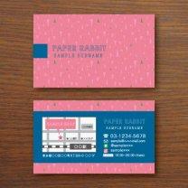 ショップカード【三角模様】ピンク