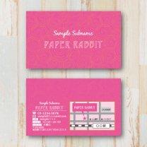 ショップカード【うずまき】ピンク