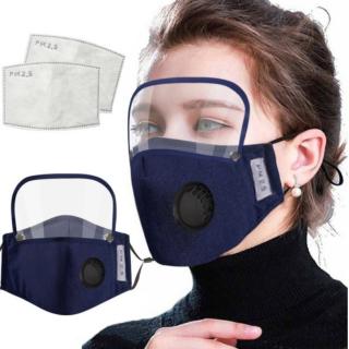シールド&空気弁付きマスク
