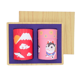 冬-3 和紙缶2缶ギフト(冬富士・犬張子)