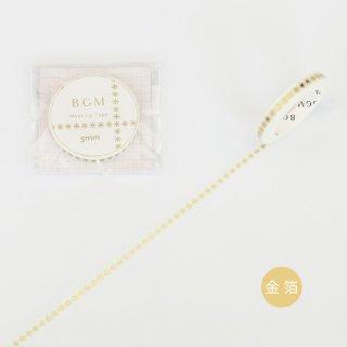マスキングテープ【ライフ 金箔 米印 】5mm