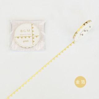 マスキングテープ【ライフ 金箔 小さな旗 】5mm