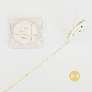 マスキングテープ【ライフ 金箔 リトルスター】5mm