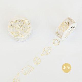 マスキングテープ【ライフ 金箔 立体模型】15mm