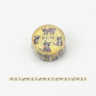 マスキングテープ【ライフ アライグマ】15mm