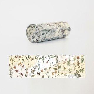 マスキングテープ【ライフ レトロな花】100mm