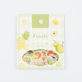 フレークシール【果物】15デザインx3 枚