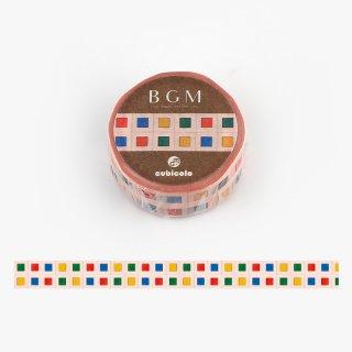 【BGMxクビコロ】コラボレーション「cubicolo01」15mm マスキングテープ