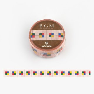 【BGMxクビコロ】コラボレーション「cubicolo02」15mm マスキングテープ